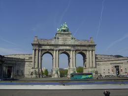 From the bus looking to Parc du Cinquantenaire - June 2011