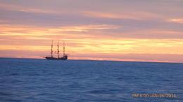 A SAILING SHIP AT EARLY SUNSET , Joe R - February 2014