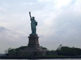 The Statue of Liberty as seen from the Circle Line Tour Boat. We got much better pics from the boat than we did from the islands., Caleb S - June 2008
