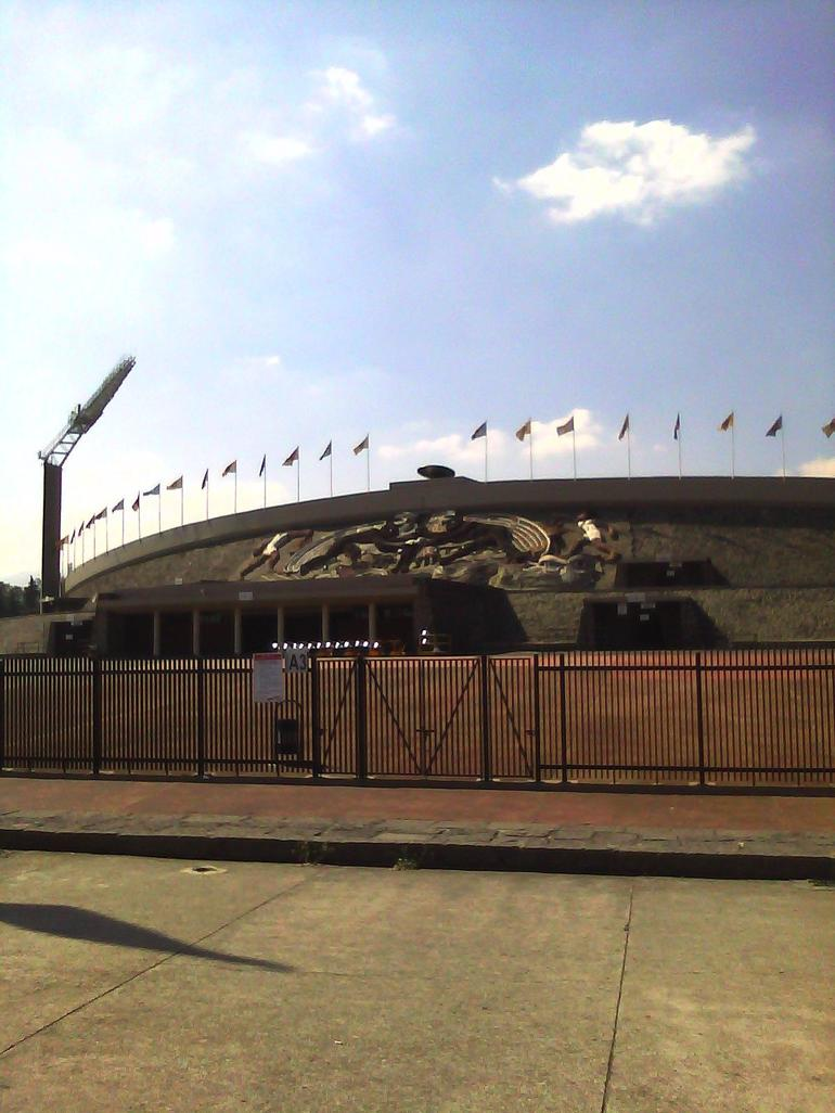 The University Soccer Stadium built as well for the Olympics in 1968 - Mexico City