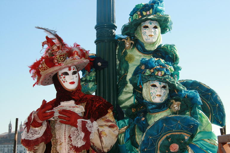 Trio at Mardi Gras in Venezia, Italia - Venice