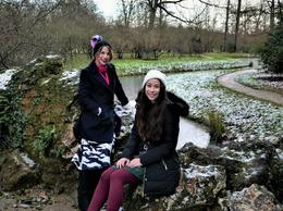 Grace and Claudia in the snowy Domaine Marie Antoinette 9th Dec. 2017 , Barry F - December 2017