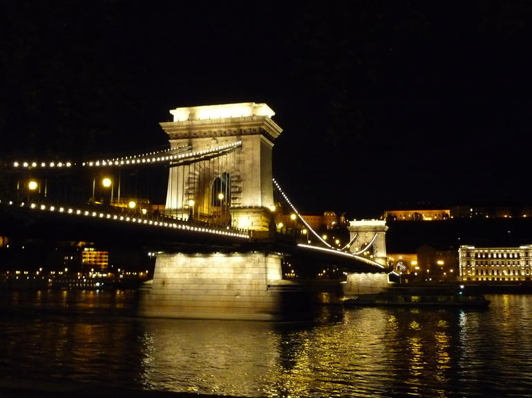 Chain bridge at Night -