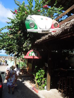 a creative entrance of an Italian restaurant at Pipa's beach, Lucia - February 2013