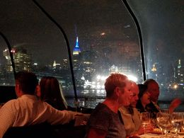 View of city skyline at night taken from our table. , MORGAN D - June 2016