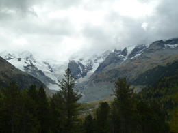 The train ride enabled us to see spectacular scenery, finishing in St Moritz , Shirley T - December 2013