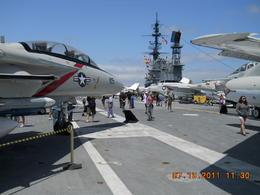 Flight deck , Glenn W - July 2011