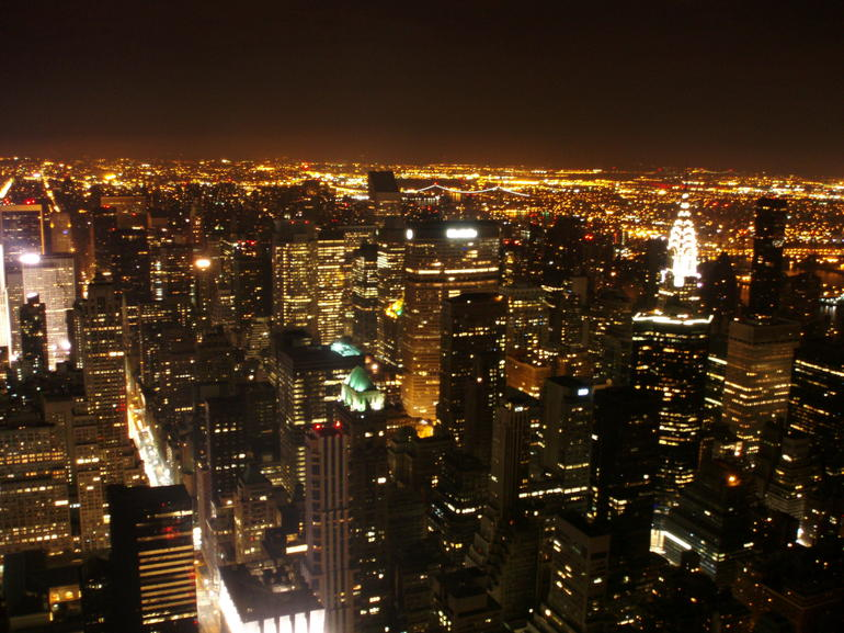 Night view from Empire State - New York City