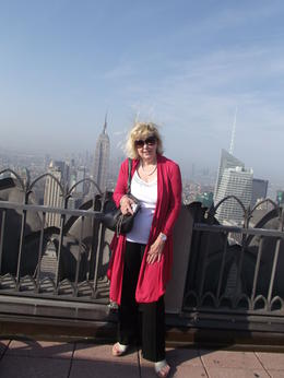MAGGIE AT THE TOP OF THE ROCK LAST DAY IN NEW YORK AND IT WAS A BEAUTIFUL MORNING , SANDRA W - May 2011