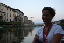 Getting ready to take the barchetta boat tour of Florence, Italy. , Kelly S - September 2014