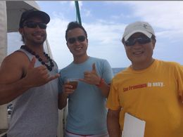captain, me and dad, Shou W - February 2015