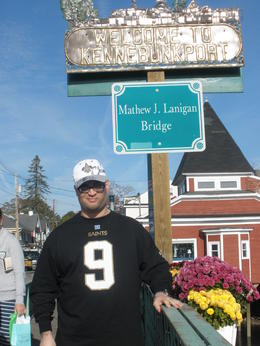 My son and I enjoying the shops in Kennebunkport , MinnieMouse - November 2013