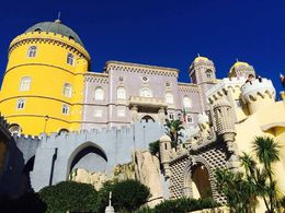 This is the beautiful Sintra castle, perched high on the top of the Sintra mountain. , Gretchen P - January 2016