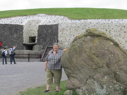 That's me waiting for our turn to go in to see the tunnel at Newgrange. It is very low and very narrow in spots. A little tight for me in places but I made it! , MommaK - September 2013
