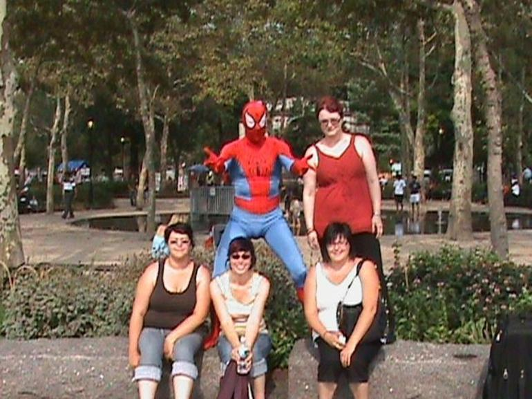 The Group with Spiderman - New York City