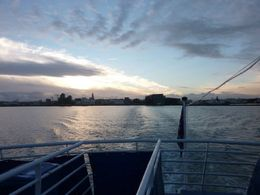 Leaving Reykjavik harbour to go find some whales! , L G S - February 2015
