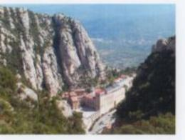 Montserrat Chapel from cable viewing area above. , Cap - November 2016