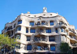 Gaudi's Casa Mila (aka La Pedrera) in Barcelona, Spain. - May 2011
