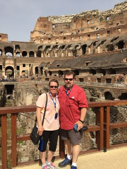 John and Kathy W. in the Colosseum , Katherine W - May 2015