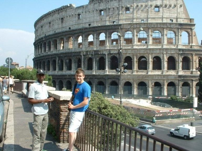 Dan & Sheldon at the Colosseum - Rome