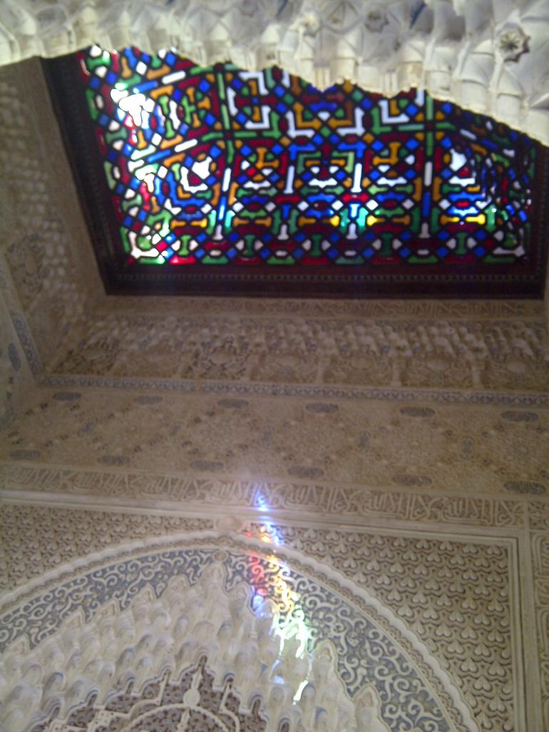 Detail of the lighting in the construction at the Alhambra - Malaga