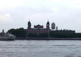 Ellis Island as seen from the Circle Line Tour Boat., Caleb S - June 2008