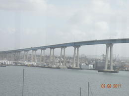 This bridge links San Diego with Coronado - we took public transportation from the Gaslamp Quarter. , Fred B - February 2011