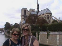 This picture was taken by our guide on our walking tour of the Latin Quarter - great picture and one of the few we have of the 2 of us together - just one of the little extras provided by our tour ... , Helen K - October 2009