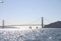 Stunning day on SF Bay. See the 'tall ships' in the shadows underneath the Golden Gate?, Vicki P - May 2008