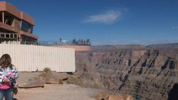 The view of the fantastic skywalk that was built by the Indians that allows tourists to have a breath taking view of the Canyon., Barbara - November 2014