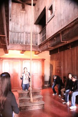The noose for interrogation, torture and private hangings. Other prisoners would be held in the second floor boxes, held in the dark and listen to the screams. This would make it easier to ... , Kathryn B - June 2016