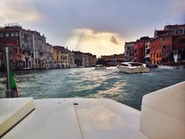 On the grand canal during the boat tour , Laura L - June 2014