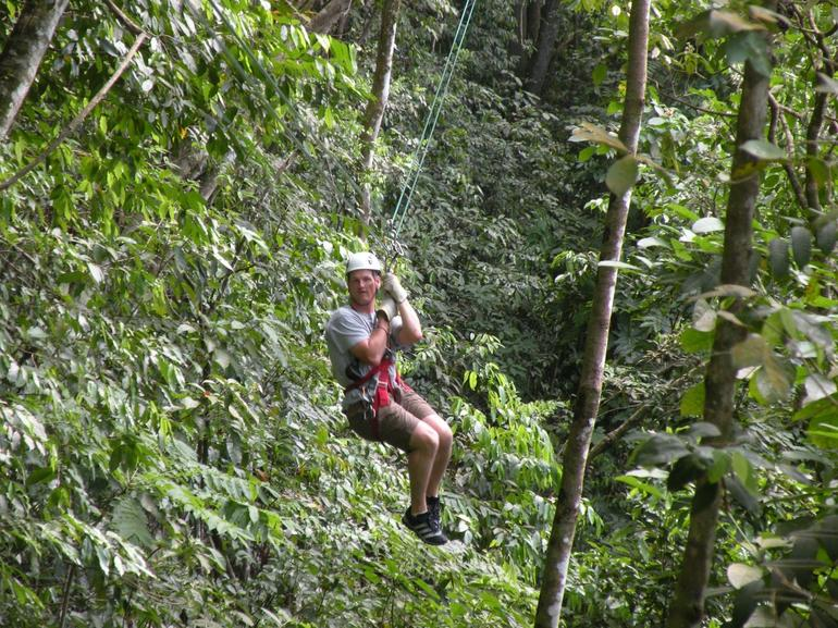 Zipline through the trees, San Juan - San Juan