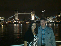 Beautiful Tower Bridge! This was taken on the top deck of the boat...we had just finished dinner. This is Kevin, my boyfriend I met on a dating website 5 1/2 months ago...he's English and I am..., Stephanie M - March 2012