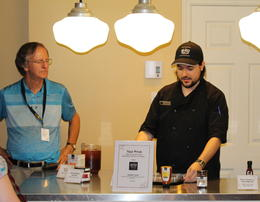 Robert and host serving Maple-based products , Don C - July 2017