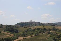 View of San Gimignano from Fattoria Poggio Alloro , Eric D - August 2017