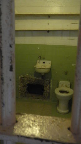 Three inmates escaped from Alcatraz through holes they dug in their cells. No one ever found their bodies in the bay---did they make it to freedom or not?? , Susan M - August 2014