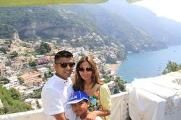 My Family in the town of Ravello. , Anusha B - July 2016