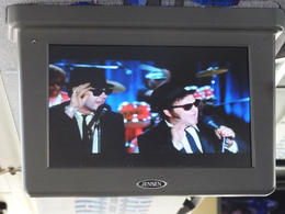 Watch scenes from Blues Brothers and other films on the bus - January 2013