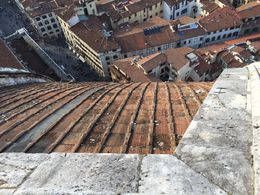 This is a view looking straight down from the top of the dome. You can see the roof as it curves down and out of sight! Magnificent! , Ken - October 2015