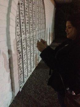 Having a creepy fun time, Krystal W - October 2013