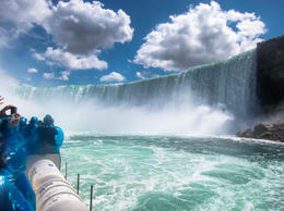 View of Horseshoe Falls from Maid of the Mist boat - July 2013