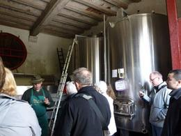 Inside the winery with Mr. Hubert. He described the processing. , Ken S - May 2012