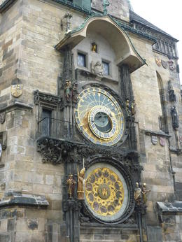 The astronomical clock was so pretty!, Irene - October 2013