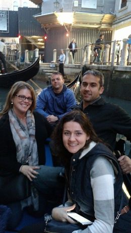 This is four of us in the front of the gondola. The other two girls in the back were not in our group. Again- we wish that we would have only had four and not been as crowded. , Heather M - October 2015