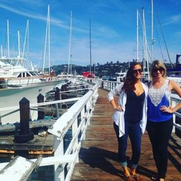 Checking out the boats in sunny Sausalito , Christine A - October 2015
