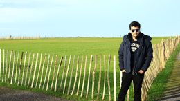 Me posing next to the fields near Stonehenge.! , Abhishek D - January 2016