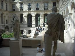 The courtyard in the newest section of the Louvre, we can have lunch here, its beautiful, Frances - April 2010