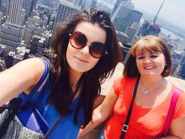 Taking a and quot;selfie and quot; from the Top of the Rock Observation Deck , Alison E - July 2014