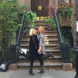 Me and my daughter in front of Carries stoop! , Sandra S - November 2016